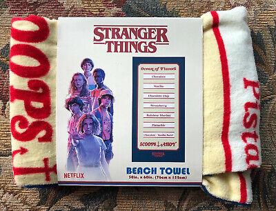 Stranger Things Scoops Ahoy Beach Towel All New Season 3