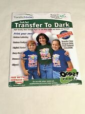 New Transfer Magic Ink Jet Transfer Paper 85x11 5 Pack For Dark Fabrics 2004