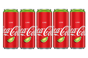 5-x-COCA-COLA-LIME-Flavor-Full-Unopened-Cans-330ml