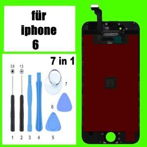 iPhone-6-Display-LCD-mit-RETINA-Glas-Front-Scheibe-Bkildschirm-Schwarz
