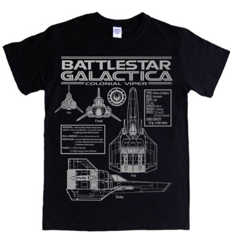 5XL t-shirt specs logo colonial tv VIPER blueprints S BATTLESTAR GALACTICA