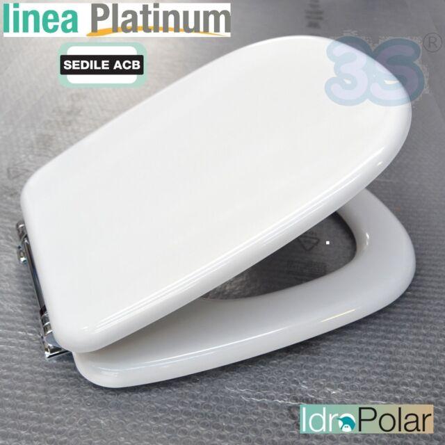 Sedile Tesi Ideal Standard Bianco Europa.Sedile Tavoletta Copri Water Ideal Standard Tesi Anima In Legno Acb Platinum
