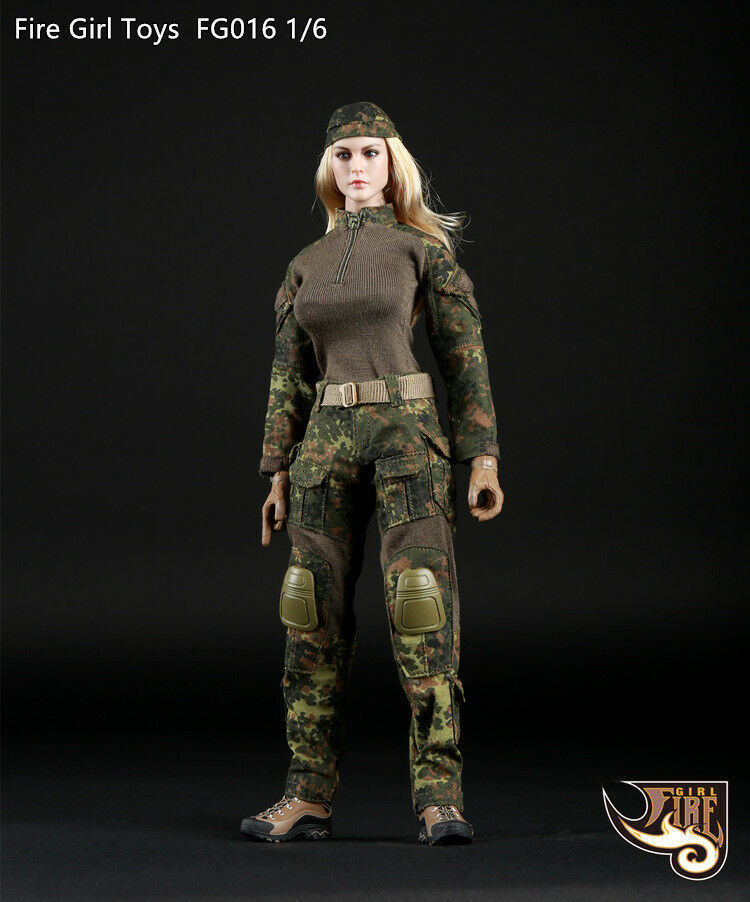 Fire Girl Toys FG016 1 6 tactical Female shooter Camouflage For 12  Woman Figure