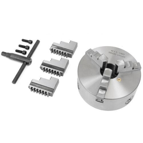 3 Jaw self centering Mini Lathe Chuck 100mm 4 inch Reversable Jaw Key Handle