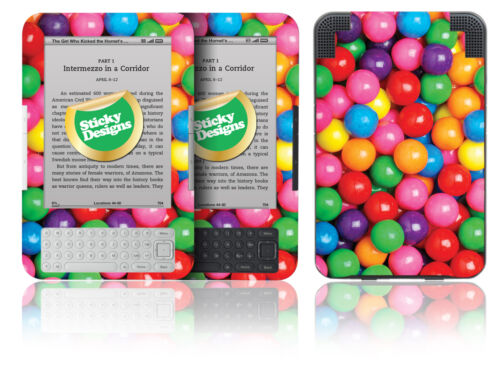 Sweetie//Gum Ball Design Vinyl Skin Sticker Cover Amazon Kindle 3