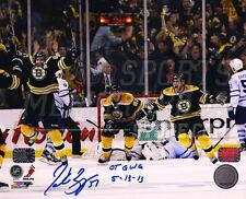 Patrice Bergeron Boston Bruins Signed Game 7 Comeback OT GWG Inscribed 8x10