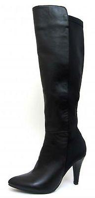 Spot on F50335 Ladies Negro Sintético/Textil Botas Altas (R36A) (Kett)