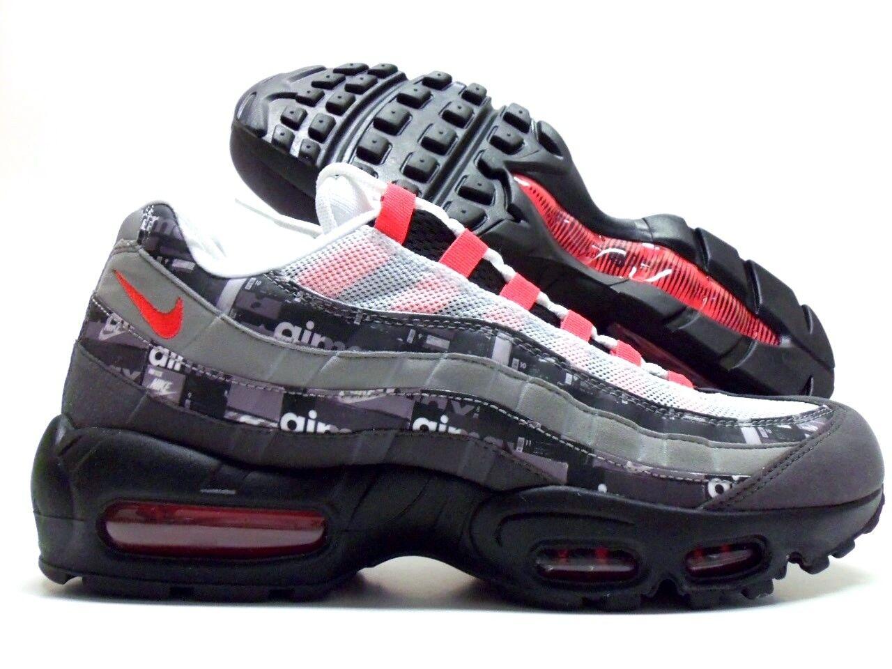 Nike air max 95 prnt impronta nero nero nero / raggiante dimensioni uomini 9,5 e76b66