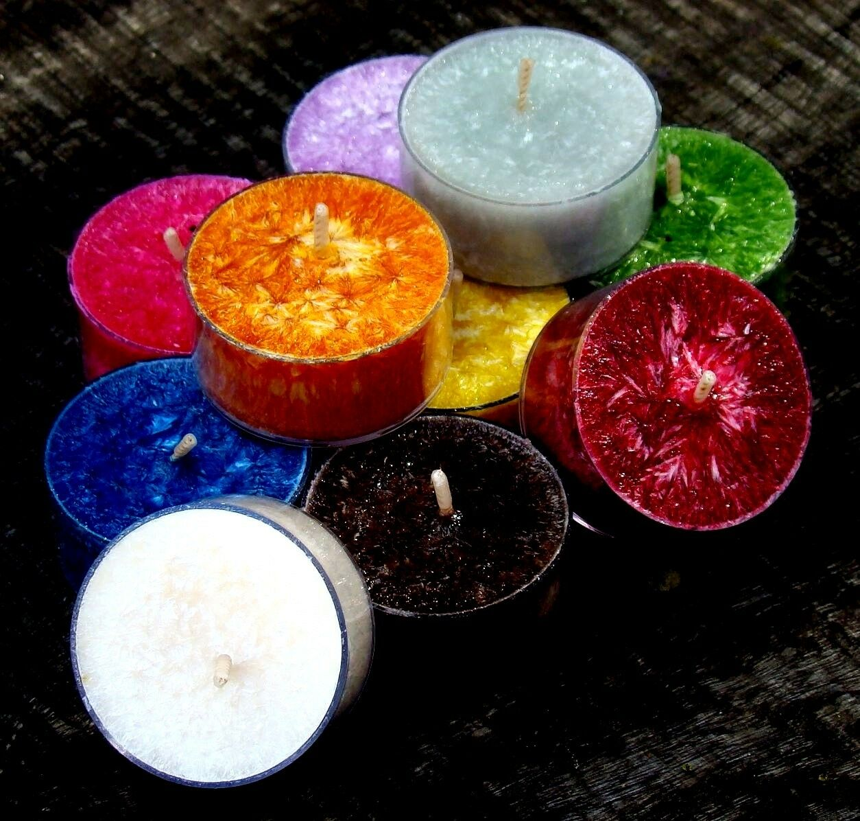 100pk Natural TEA LIGHT CANDLES ...   ALL COLOURS & FRAGRANCES ... YOU CHOOSE