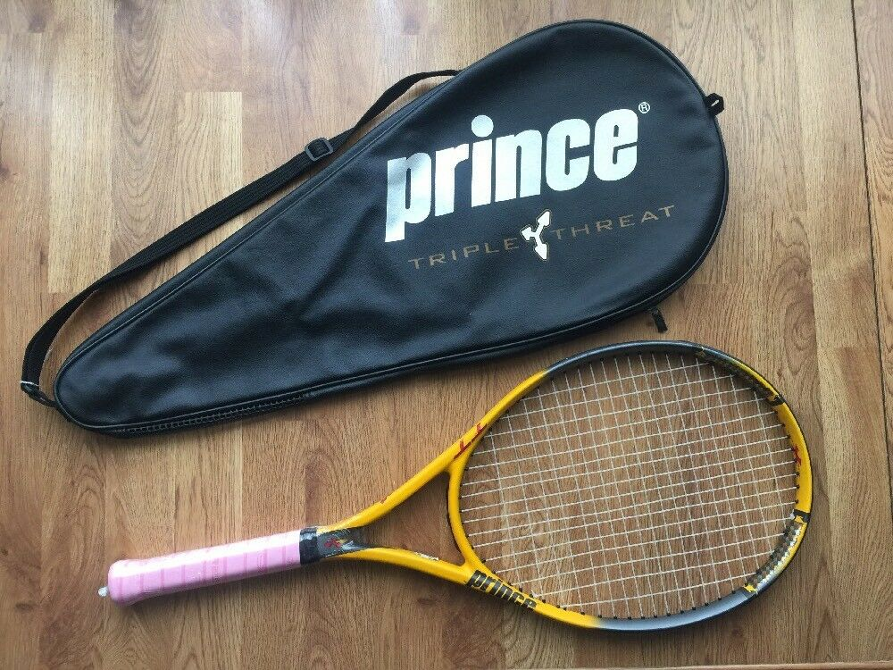 Prince TT Scream OS Triple Threat Tennis Racquet Graphite 4 1/4 Case & new Grip