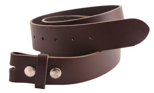 "Genuine Leather Belt Strap for Interchangable Buckles 1.5/"" 40mm UK Made"