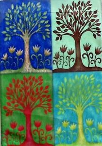 Seasons-Garden-Tree-Flag-by-Toland-8083-Winter-Spring-Summer-Fall-Welcome