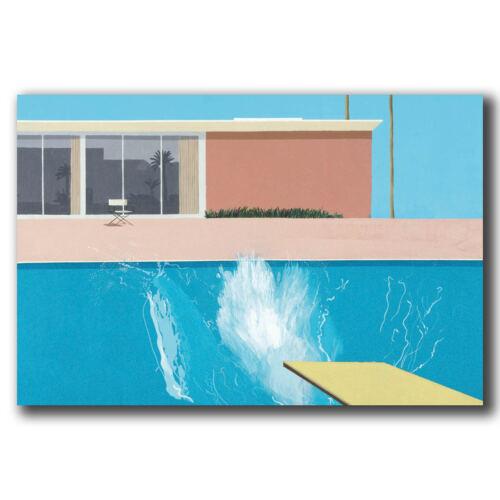 New David Hockney A Bigger Splash Artist Custom Poster Print Art Decor T-790