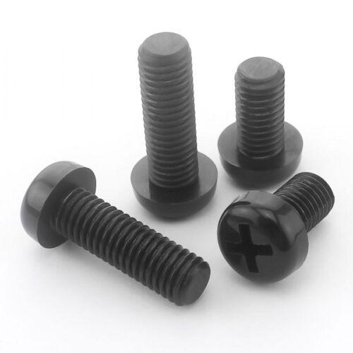5mm Nylon Pan Round Head Phillips Screws Plastic Machine Screws Black M5