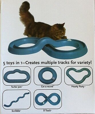 Newly idea Cat toy 5 in 1 Turbo Track DIY Create Multiple Tracks Variety Styles