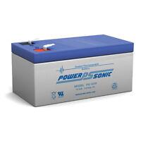 Power-sonic Ps-1230 12v 3ah Sla Battery Replaces Vector Vec138y Sport Spotlight
