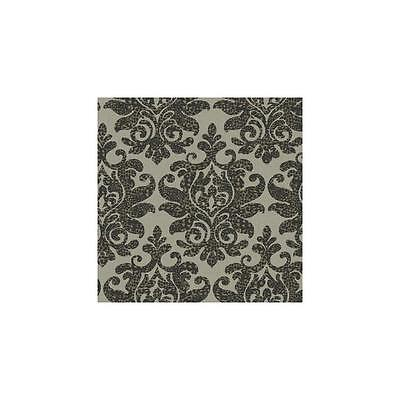 Carey Lind Damask with a Leopard Twist on Beige Wallpaper RC3718