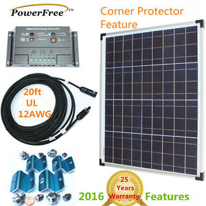 Premium Complete Kit 50w 50 Watt Solar Panel Charger For