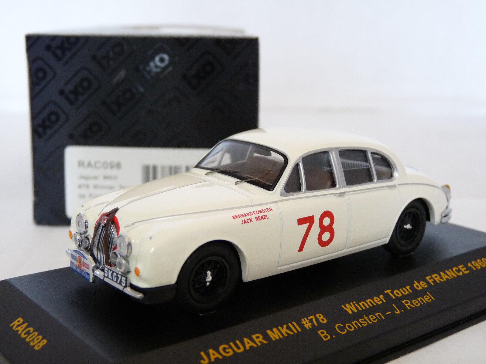 Ixo RAC098 1 43 Jaguar Mk.II Tour de France 1960 Diecast Metal Model Car