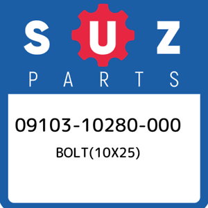 09103-10280-000-Suzuki-Bolt-10x25-0910310280000-New-Genuine-OEM-Part
