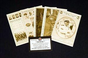 RMS-Titanic-White-Star-Line-Set-of-32-Sepia-Assorted-Postcards