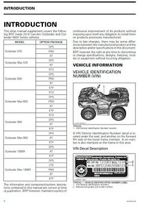 2016 can am atv outlander 570 650 850 1000r max service manual in rh ebay com can am service manual g2 can am outlander service manual