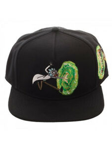 8856c793065 OFFICIAL RICK AND MORTY PORTAL - C MON MORTY BLACK SNAPBACK CAP (NEW ...