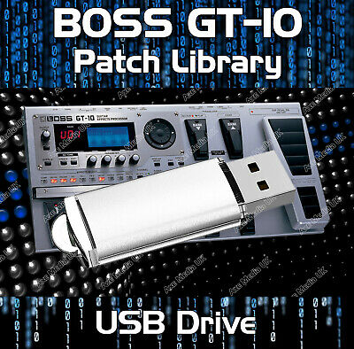 GUITAR EFFECTS PEDALS BOSS GT-100 PRE-PROGRAMMED TONE PATCHES USB 5,500