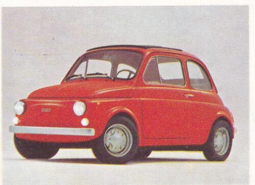 sticker 1972 Fiat 500 sammelbild
