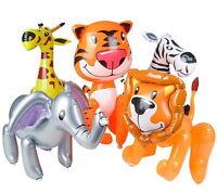3 Zoo Animal Inflates 24 Giraffe Elephant Lion Tiger Zebra Animals Inflatable