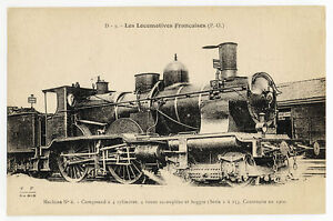 Railway-Postcard-P03158-Carte-Postale-Locomotives-Francaises-Nord-P-O-etc