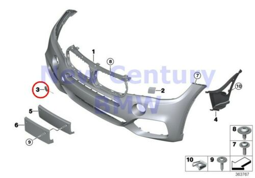 BMW Genuine M Trim Front Primered Tow Coupling Cover M F15