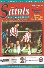 Southampton v Blackburn Rovers - Premiership - 21/2/1998 - Football Programme