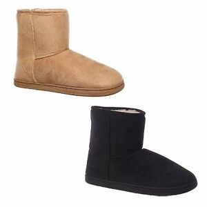 INVISIBLE-SHORT-BOOT-Grosby-Black-Light-Brown-Warm-Mocassins-Boots-Size-5-10