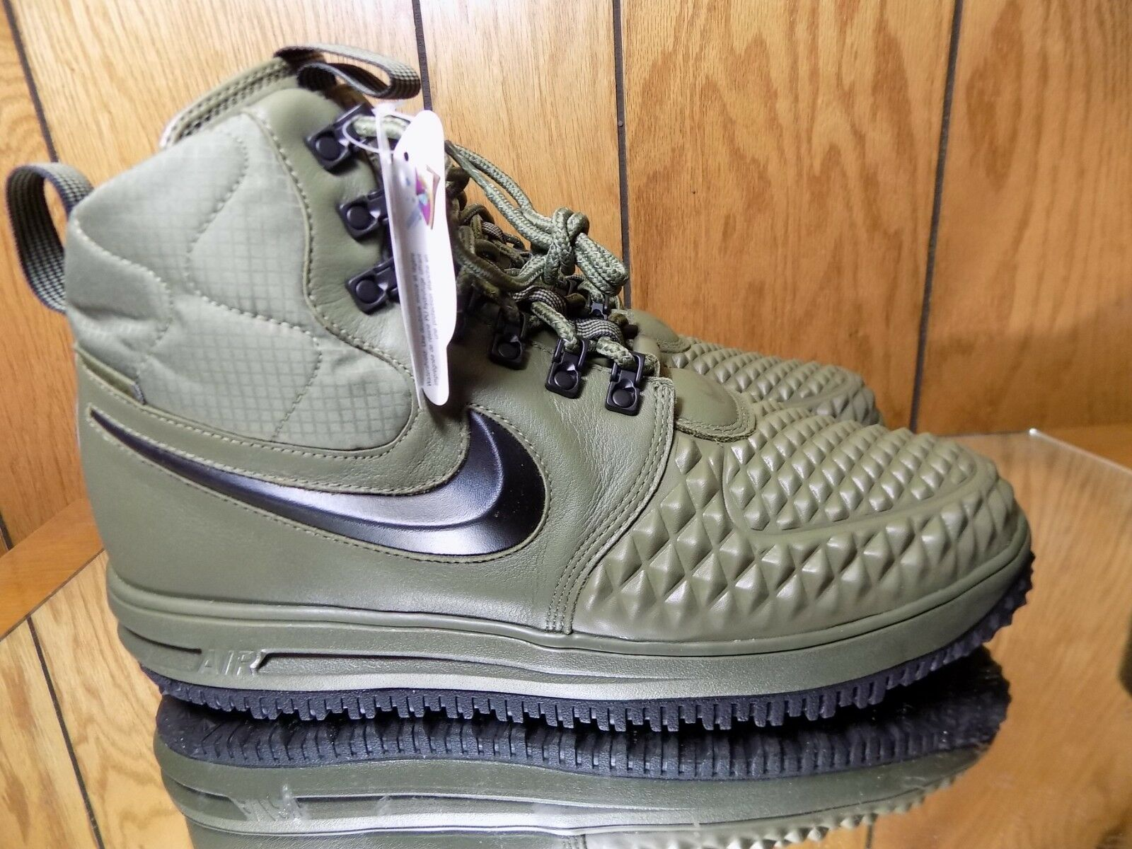 Nike Lunar Air Force 1 Duckboot 17 Size 9 Medium Olive Green LF1 916682-202