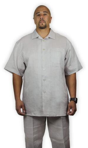 SHIRT AND PANTS MEN/'S TWO-PIECE 100/% LINEN SET LN-110