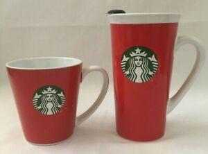 Lot-of-2-Starbucks-2017-Christmas-Travel-Mug-14-3-oz-and-Coffee-Tea-Cup-9-63-oz