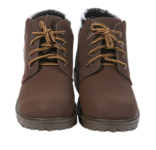 NEW BOYS KIDS CASUAL LACE UP WINTER WALKING ANKLE BOOTS TRAINERS SHOES SIZE UK