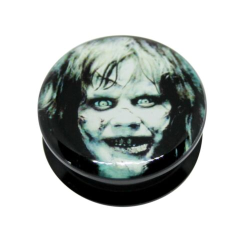 El Exorcista Acrílico Tornillo Ajuste Oreja Tapón Carne Túnel 6mm-25mm Halloween
