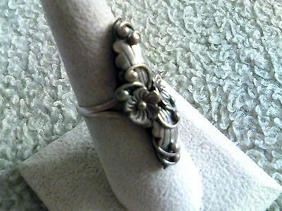 2 Sterling Silver Flowers Ring All Silver/No Stones  Navajo Made