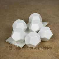 Set Of 6 Twelve Sided Blank Dice W/ Stickers 25mm 1 Inch D12 D&d Rpg Game