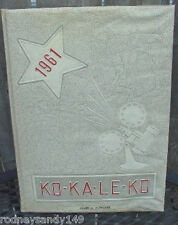1961 Ko-Ka-Le-Ko Cocalico Union, Pa. High School Year Book