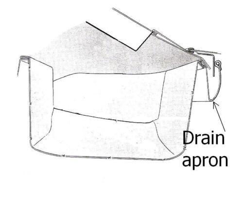 1971-1976 Cadillac Eldorado /& Biarritz convertible top vinyl water drain apron
