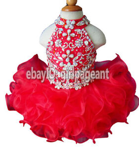 Infant//toddler//baby Beading Pageant  Dress G284-4 from size3-6months to 5T