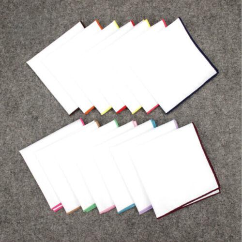 Wertvolle Taschentücher Baumwolle Weiß Solide Einstecktuch Handtuch 23*23 CM Neu