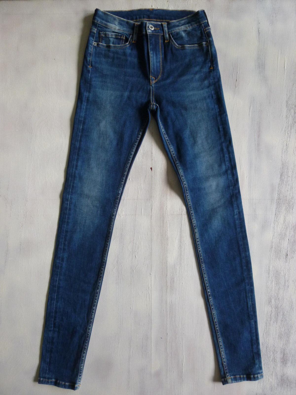 Pepe London Woman SRW-015 Super-SKINNY mid-high Jeans Hose Gr 34 36 W27 L32 Neu