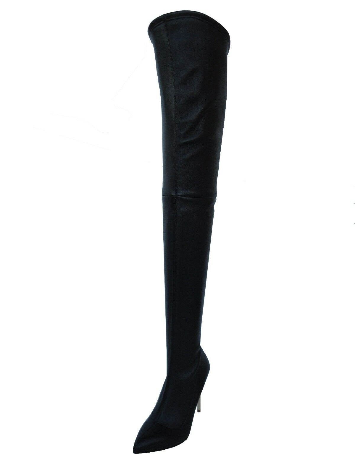 CQ COUTURE STIEFEL CUSTOM OVERKNEE BOOT STIEFEL COUTURE STIVALI REAL STRETCH HEELS BLACK NERO 39 f0edbe