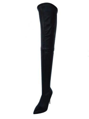 talons à mesure 43 hauts noir extensibles et talons Stiefel Couture Cq à noir Bottes sur hauts xIvUXq