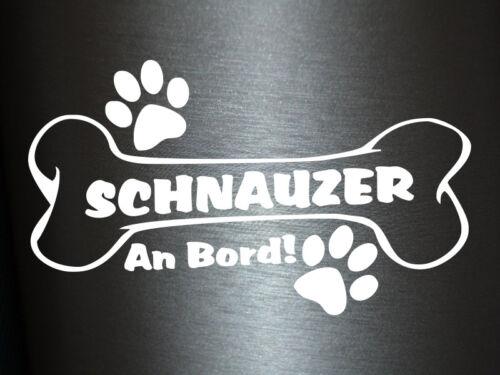 1 x Plott Aufkleber Hundeknochen Schnauzer An Bord Pfote Hund Dog Bone