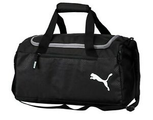 Image is loading Puma-Fundamental-Small-Training-Duffel-Bags-Running-Black- d8578085a7131